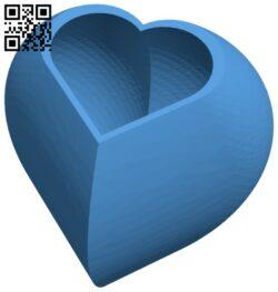 Herz behaelter – heart shaped jar B007956 file stl free download 3D Model for CNC and 3d printer