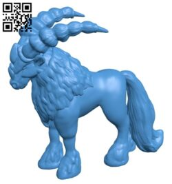 Horned horse B007733 file stl free download 3D Model for CNC and 3d printer