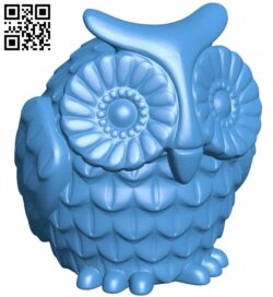 Horned owl B007874 file stl free download 3D Model for CNC and 3d printer