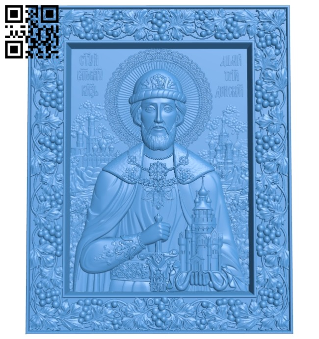 Icon Dmitry Donskoy A005203 download free stl files 3d model for CNC wood carving