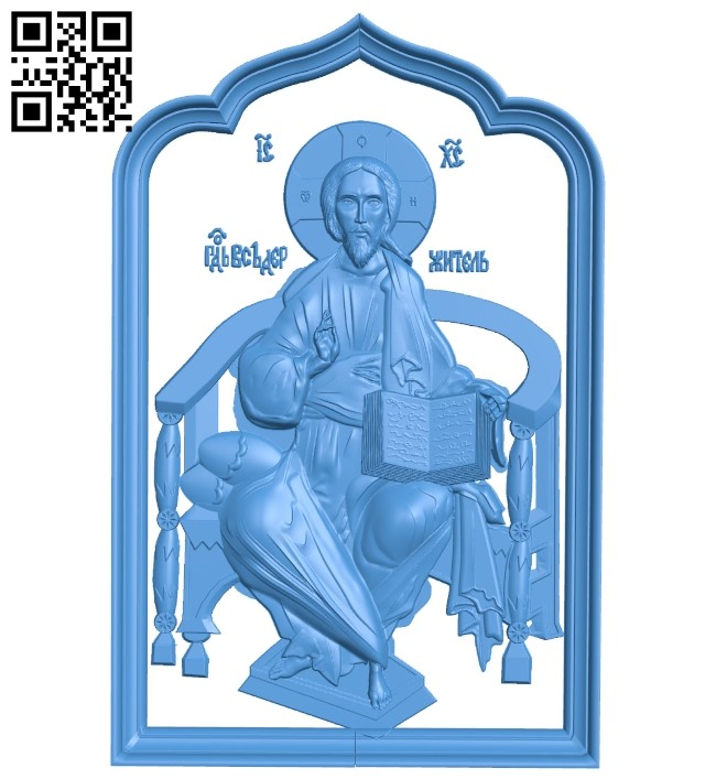 Icon Pantocrator A005186 download free stl files 3d model for CNC wood carving