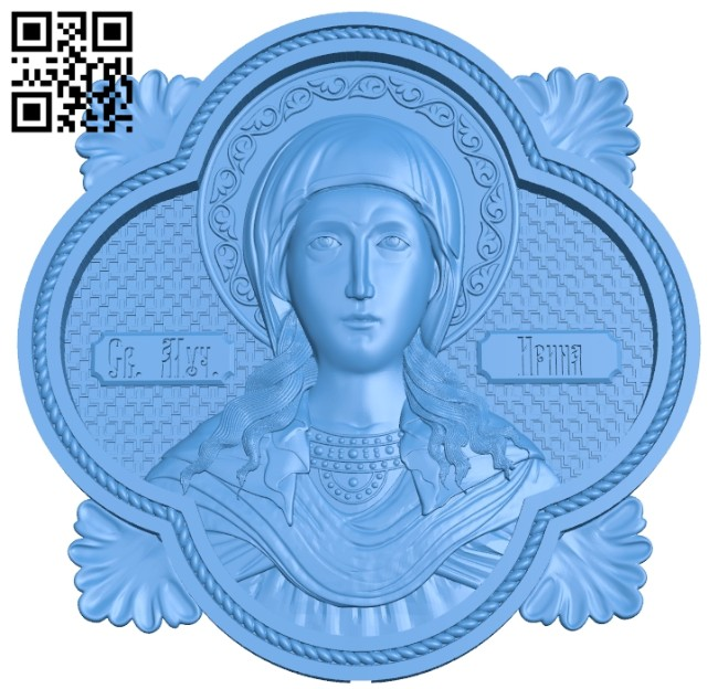 Icon Saint Irina A005201 download free stl files 3d model for CNC wood carving