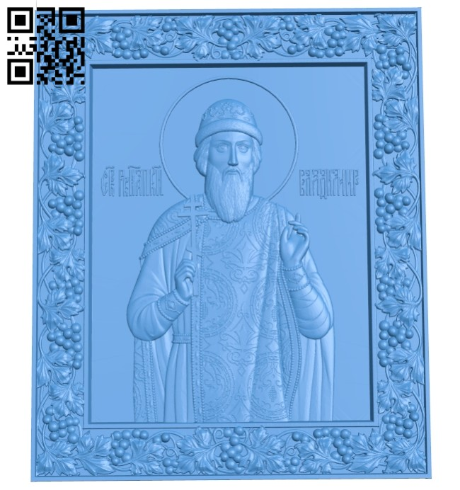 Icon Saint Vladimir A005205 download free stl files 3d model for CNC wood carving
