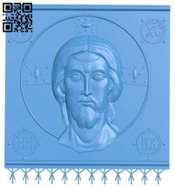 Icon canvas Jesus Christ A005073 download free stl files 3d model for CNC wood carving