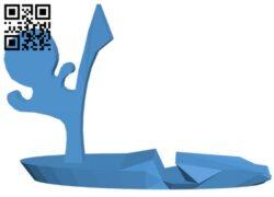 Kicking phone holder B007988 file stl free download 3D Model for CNC and 3d printer