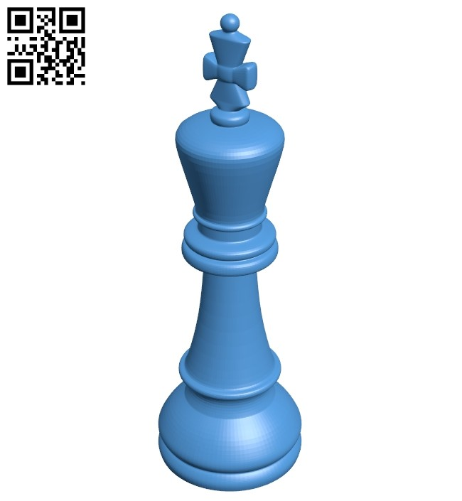 King - chess B007617 file stl free download 3D Model for CNC and 3d printer
