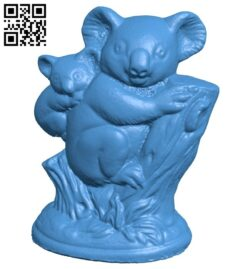 Koala Bear B007814 file stl free download 3D Model for CNC and 3d printer