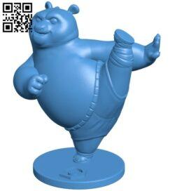 Kung Fu Panda B007900 file stl free download 3D Model for CNC and 3d printer
