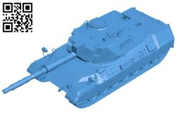 Leopard tank B007824 file stl free download 3D Model for CNC and 3d printer
