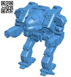 Linebacker robot B007827 file stl free download 3D Model for CNC and 3d printer