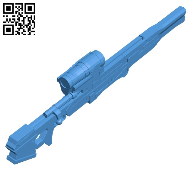 Longshot sniper rifle B007952 file stl free download 3D Model for CNC and 3d printer