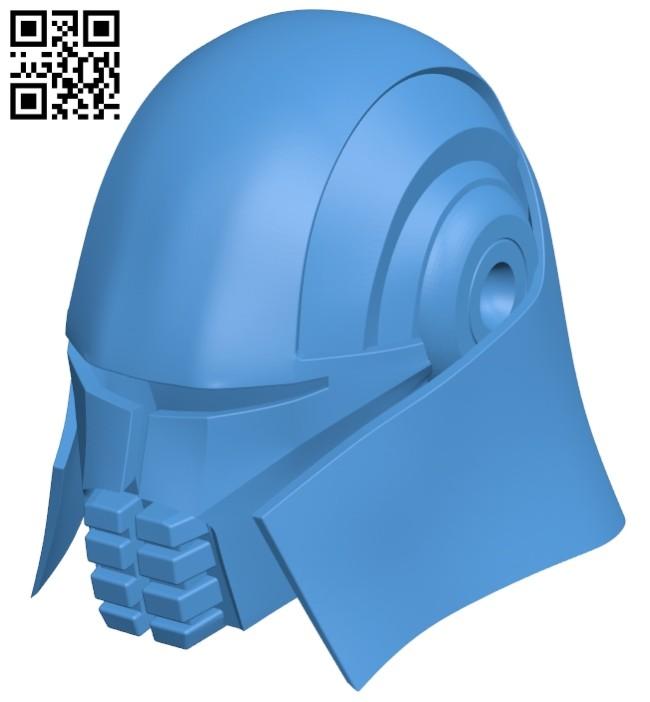 Lord starkiller helmet B008022 file stl free download 3D Model for CNC and 3d printer