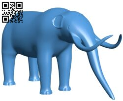 Mammoth figurine – elephant B008021 file stl free download 3D Model for CNC and 3d printer