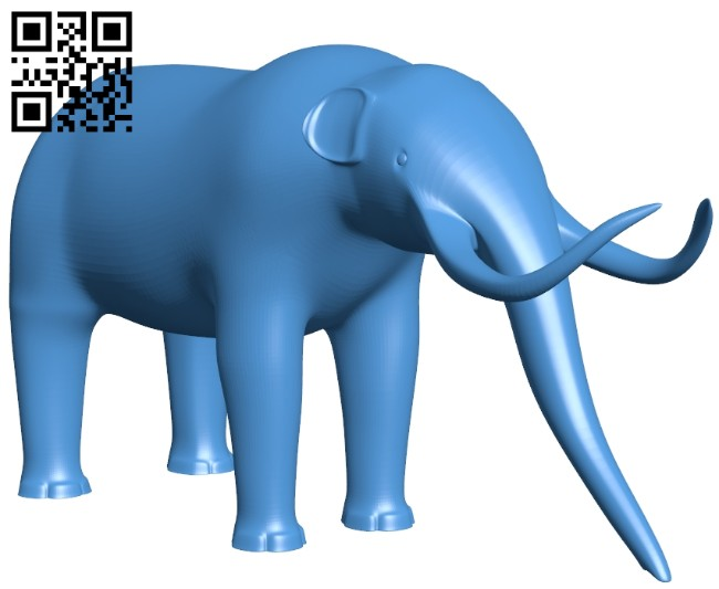 Mammoth figurine - elephant B008021 file stl free download 3D Model for CNC and 3d printer