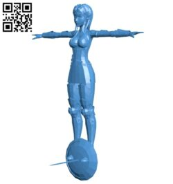 Medieval character warrior woman B007705 file stl free download 3D Model for CNC and 3d printer