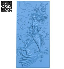 Mermaid door pattern A005112 download free stl files 3d model for CNC wood carving