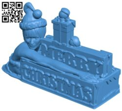 Merry christmas B007919 file stl free download 3D Model for CNC and 3d printer