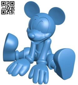 Mickey sitting – Mouse B007717 file stl free download 3D Model for CNC and 3d printer