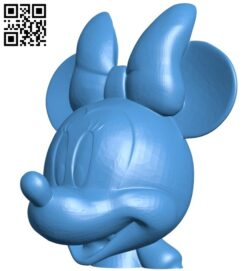 Minnie mickey mouse head B007755 file stl free download 3D Model for CNC and 3d printer