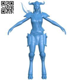 Miss Draenei hunter B007996 file stl free download 3D Model for CNC and 3d printer