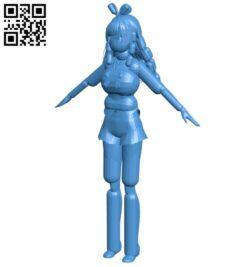 Miss Kizuna ai B007813 file stl free download 3D Model for CNC and 3d printer