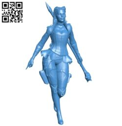 Miss Loba figurine B007653 file stl free download 3D Model for CNC and 3d printer