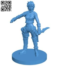 Miss Steampunk Adventure B007955 file stl free download 3D Model for CNC and 3d printer