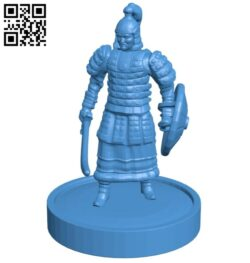 Mongolian Warrior – man B007681 file stl free download 3D Model for CNC and 3d printer