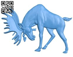 Moose A005061 download free stl files 3d model for CNC wood carving