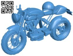 Motorbike with helmet B007845 file stl free download 3D Model for CNC and 3d printer