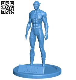 Mr Figurine Flash – superhero B007951 file stl free download 3D Model for CNC and 3d printer