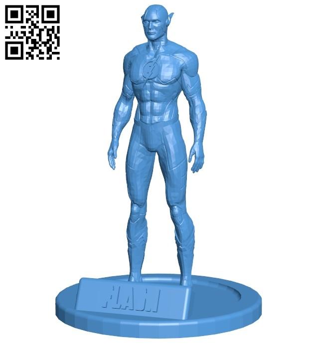 Mr Figurine Flash - superhero B007951 file stl free download 3D Model for CNC and 3d printer