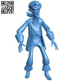 Mr Guybrush Threepwood B007907 file stl free download 3D Model for CNC and 3d printer