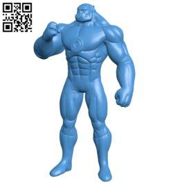 Mr Kilowog green superman B007810 file stl free download 3D Model for CNC and 3d printer