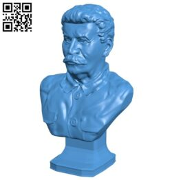 Mr Stalin bust B007696 file stl free download 3D Model for CNC and 3d printer