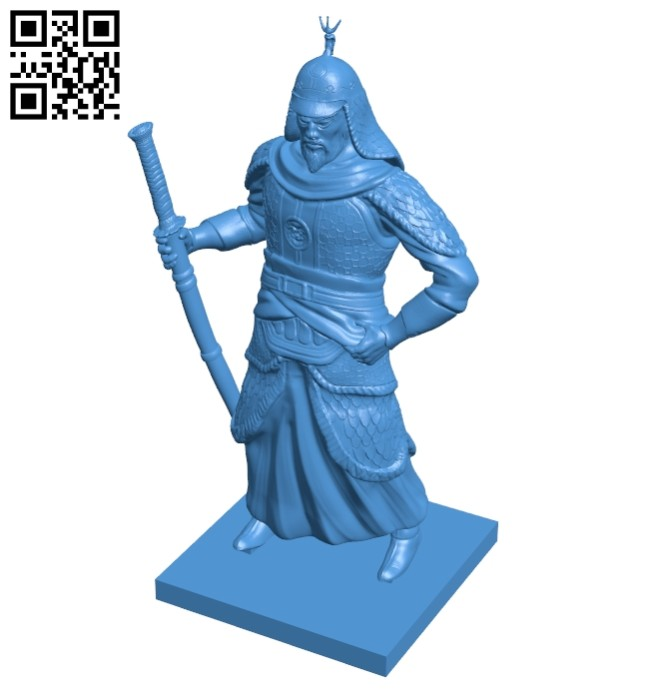 Mr Yi Sun Sino Japanese warrior B007904 file stl free download 3D Model for CNC and 3d printer