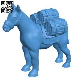 Mule with barrels B007686 file stl free download 3D Model for CNC and 3d printer