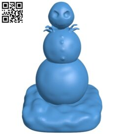 Nightmare snowman B007915 file stl free download 3D Model for CNC and 3d printer