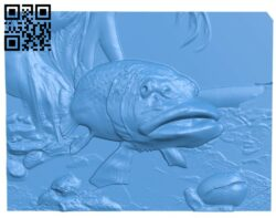 Ocean fish painting A005101 download free stl files 3d model for CNC wood carving
