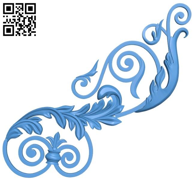 Pattern decor design A005183 download free stl files 3d model for CNC wood carving