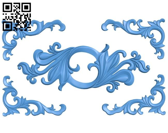 Pattern decor design A005189 download free stl files 3d model for CNC wood carving