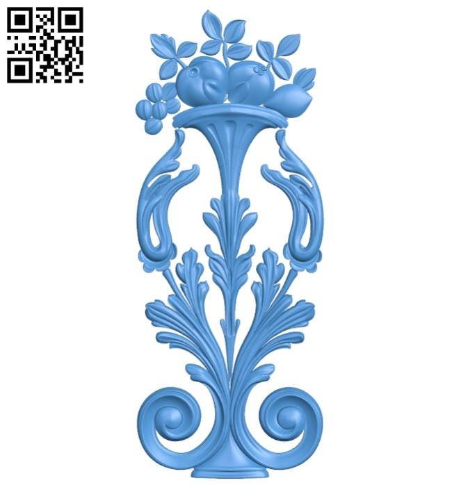 Pattern decor design A005210 download free stl files 3d model for CNC wood carving