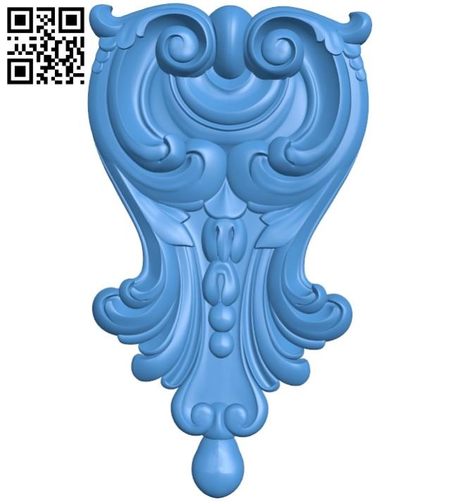 Pattern decor design A005213 download free stl files 3d model for CNC wood carving