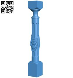 Pattern of columns or handrail of stairs A005086 download free stl files 3d model for CNC wood carving