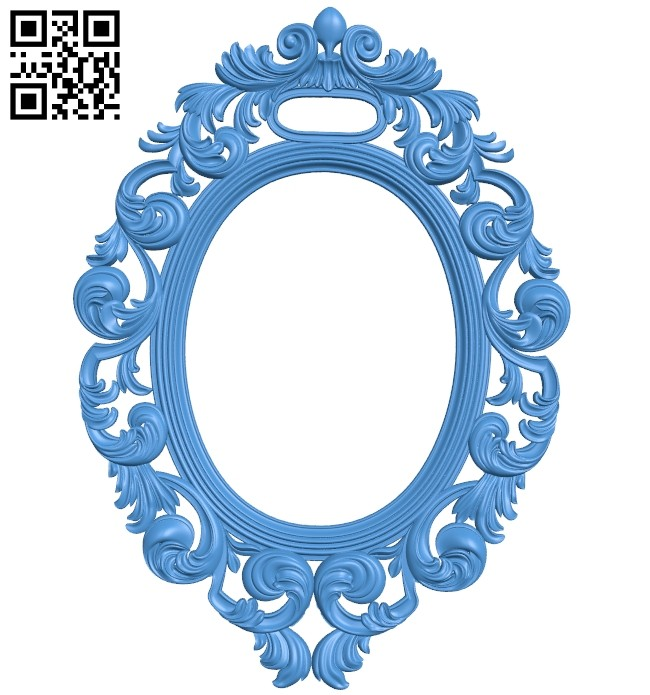 Pattern oval frame A005219 download free stl files 3d model for CNC wood carving