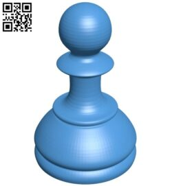Pawn – chess B007619 file stl free download 3D Model for CNC and 3d printer