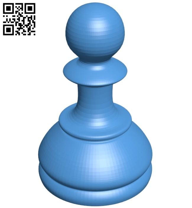 Pawn - chess B007619 file stl free download 3D Model for CNC and 3d printer