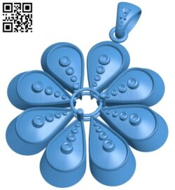 Pendant flower B007921 file stl free download 3D Model for CNC and 3d printer