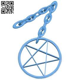 Pentagram pendant B007868 file stl free download 3D Model for CNC and 3d printer