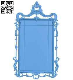 Picture frame or mirror A005148 download free stl files 3d model for CNC wood carving